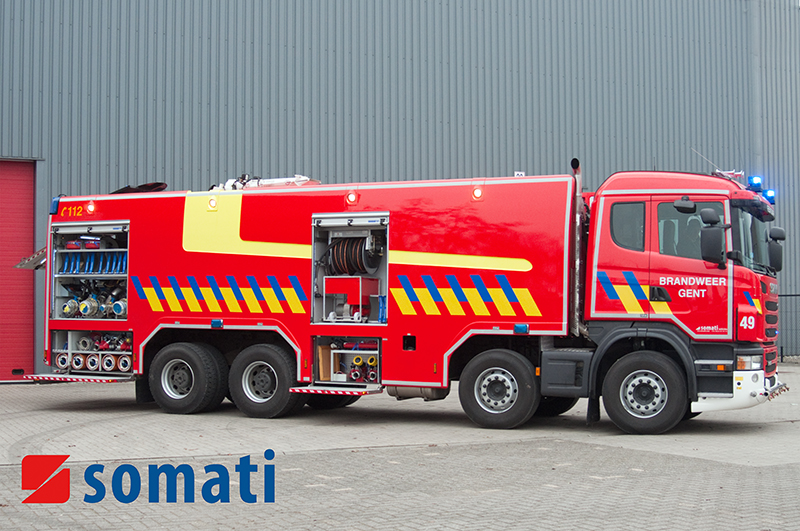 Tank Vehicle Fire Brigade Ghent Somati Vehicles