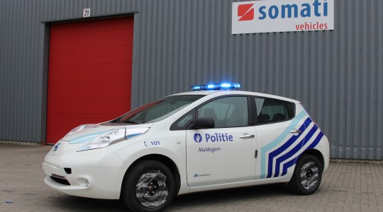 Véhicule d'intervention – Nissan Leaf – Zone police de Maldegem